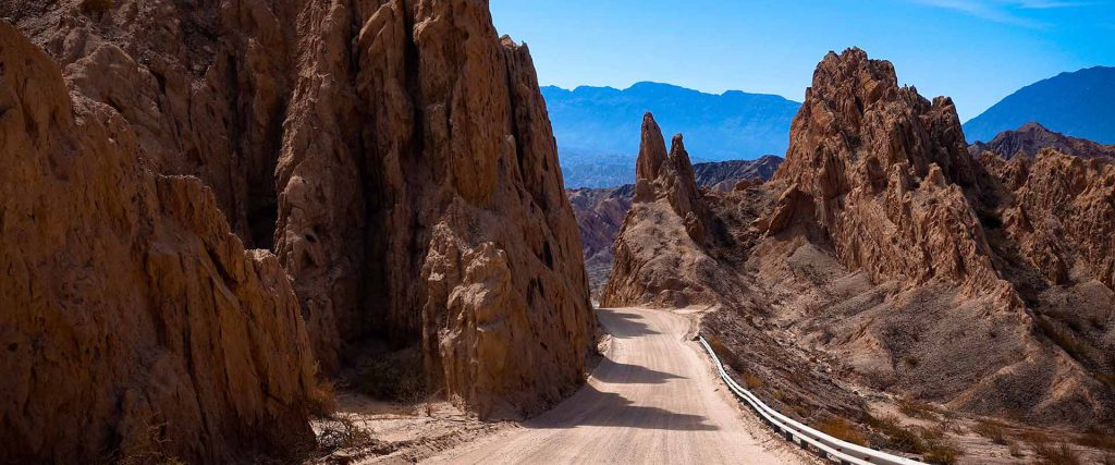 Argentina. The dust road of ruta 40 between Cachi and Cafayate.