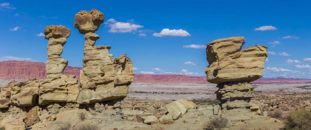 Sandstone formation in the form of a submarine in Ischigualasto