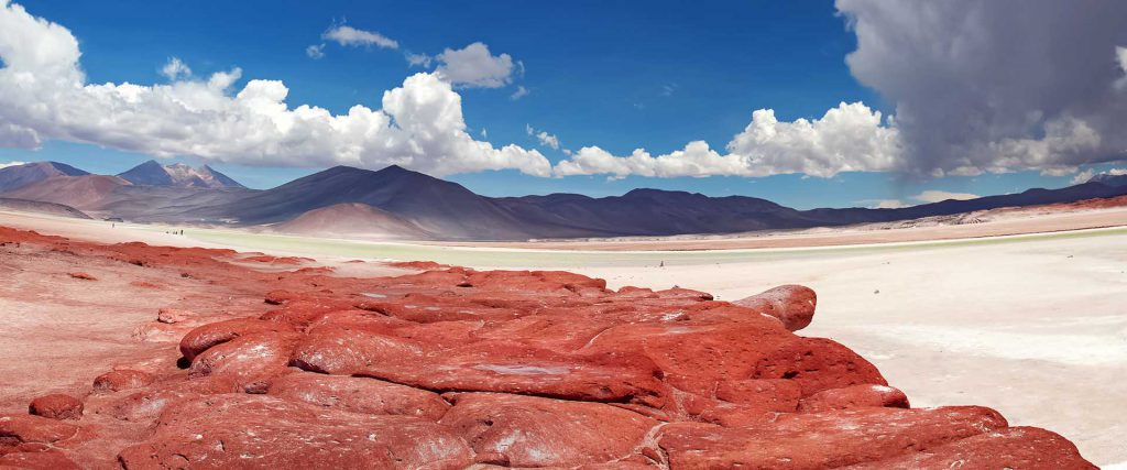 Beautoful place on Altiplano in Atacama desert, Chile